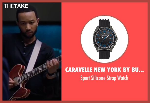 Caravelle New York by Bulova black watch from La La Land seen with John Legend (Keith)