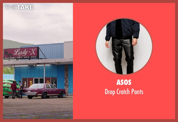 Asos black pants from American Ultra seen with John Leguizamo (Rose)