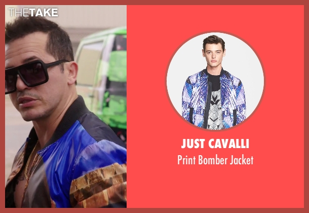 Just Cavalli blue jacket from American Ultra seen with John Leguizamo (Rose)