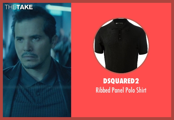 Dsquared2 black shirt from John Wick seen with John Leguizamo (Aureilo)