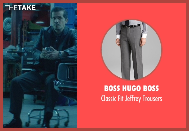 Boss Hugo Boss gray trousers from John Wick seen with John Leguizamo (Aureilo)