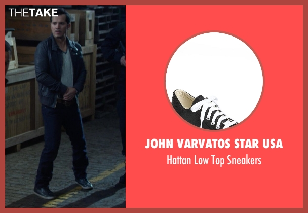 John Varvatos Star USA black sneakers from Ride Along seen with No Actor (Santiago)