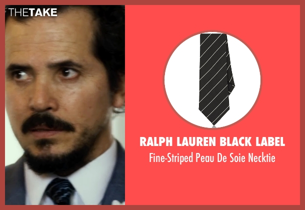 Ralph Lauren Black Label black necktie from The Infiltrator seen with John Leguizamo (Emir Abreu)