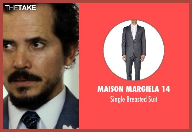 Maison Margiela 14 gray suit from The Infiltrator seen with John Leguizamo (Emir Abreu)