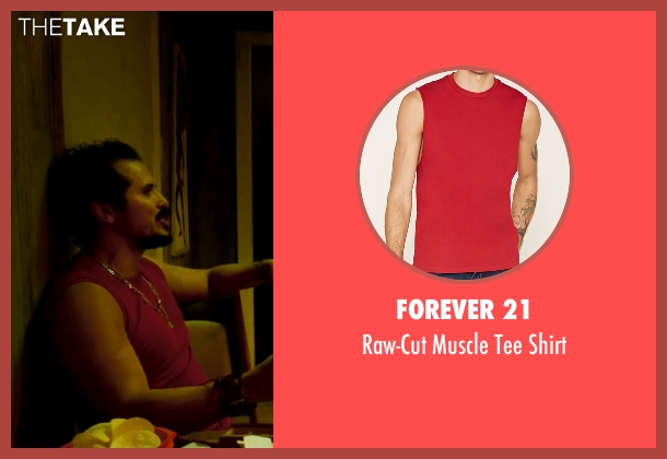 Forever 21 red shirt from The Infiltrator seen with John Leguizamo (Emir Abreu)