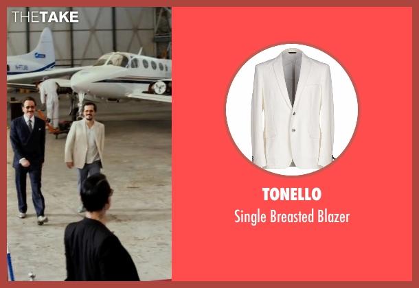 Tonello white blazer from The Infiltrator seen with John Leguizamo (Emir Abreu)