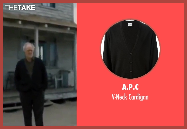 A.P.C black cardigan from Interstellar seen with John Lithgow (Donald)
