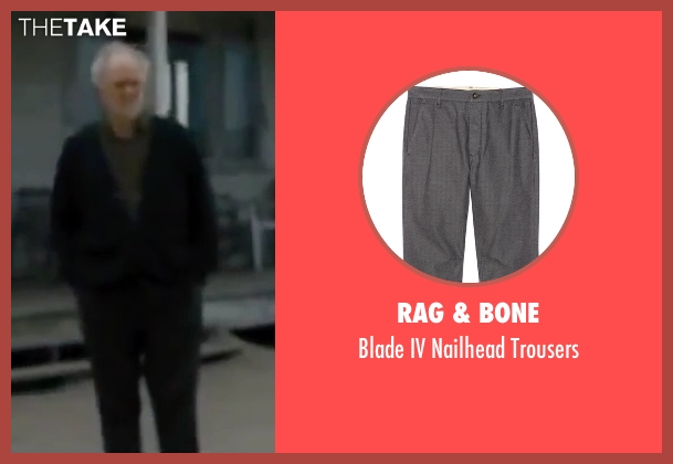 Rag & Bone gray trousers from Interstellar seen with John Lithgow (Donald)