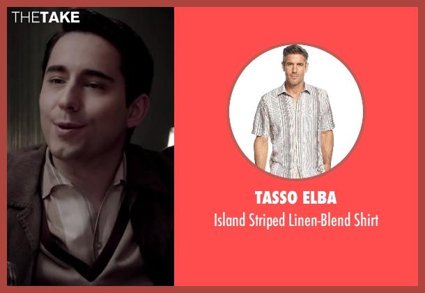 Tasso Elba beige shirt from Jersey Boys seen with No Actor (Frankie Valli)