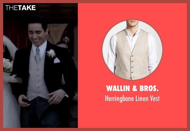 Wallin & Bros. beige vest from Jersey Boys seen with No Actor (Frankie Valli)