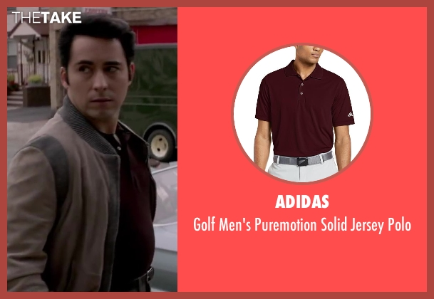 Adidas brown polo from Jersey Boys seen with No Actor (Frankie Valli)