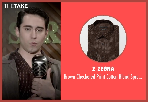 Z Zegna brown shirt from Jersey Boys seen with No Actor (Frankie Valli)