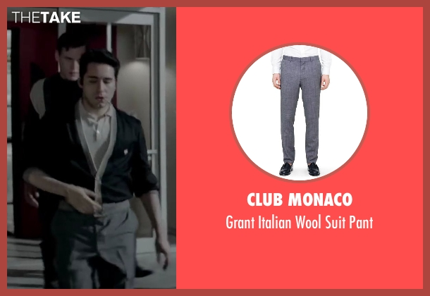 CLUB MONACO gray pant from Jersey Boys seen with No Actor (Frankie Valli)