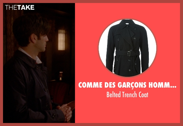 Comme Des Garçons Homme Plus black coat from American Horror Story seen with John Lowe (Wes Bentley)