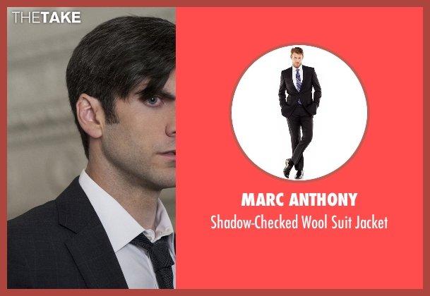 Marc Anthony black jacket from American Horror Story seen with John Lowe (Wes Bentley)