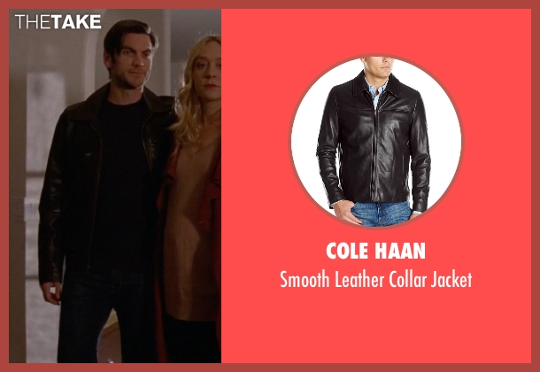 Cole Haan black jacket from American Horror Story seen with John Lowe (Wes Bentley)
