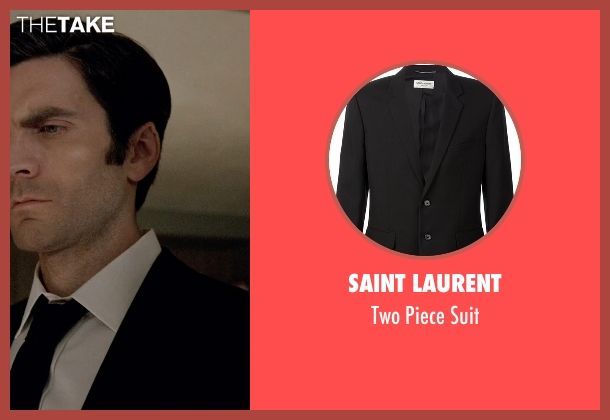 Saint Laurent black suit from American Horror Story seen with John Lowe (Wes Bentley)