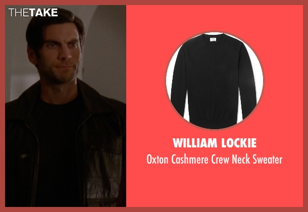 William Lockie black sweater from American Horror Story seen with John Lowe (Wes Bentley)