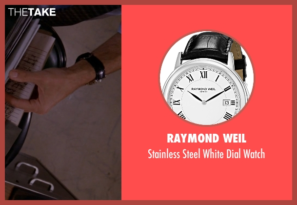 Raymond Weil black watch from American Horror Story seen with John Lowe (Wes Bentley)