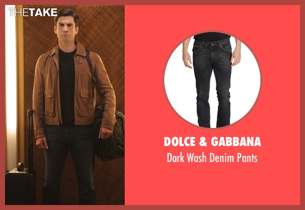 Dolce & Gabbana blue pants from American Horror Story seen with John Lowe (Wes Bentley)