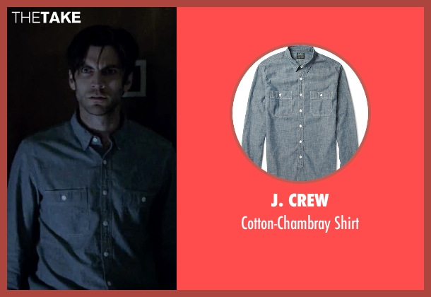 J. Crew blue shirt from American Horror Story seen with John Lowe (Wes Bentley)