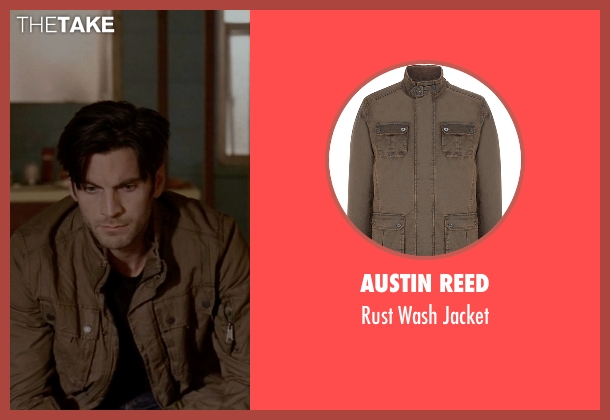 Austin Reed brown jacket from American Horror Story seen with John Lowe (Wes Bentley)
