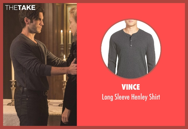 Vince gray shirt from American Horror Story seen with John Lowe (Wes Bentley)