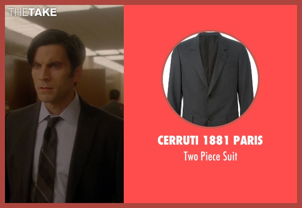 Cerruti 1881 Paris gray suit from American Horror Story seen with John Lowe (Wes Bentley)