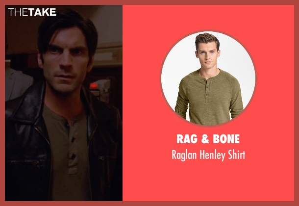 Rag & Bone green shirt from American Horror Story seen with John Lowe (Wes Bentley)