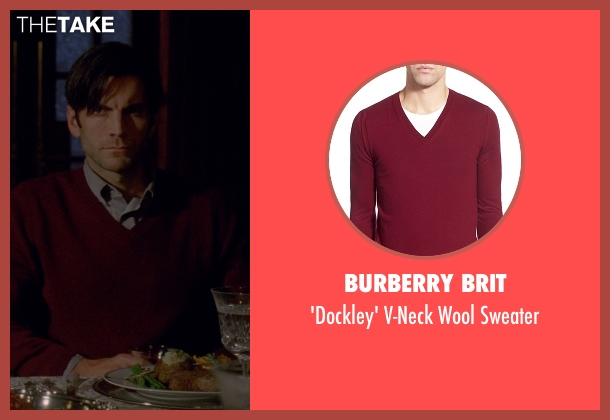 Burberry Brit red sweater from American Horror Story seen with John Lowe (Wes Bentley)
