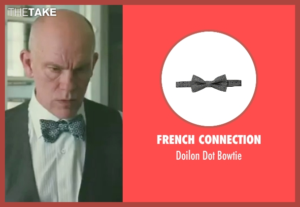 French Connection gray bowtie from Burn After Reading seen with John Malkovich (Osborne Cox)