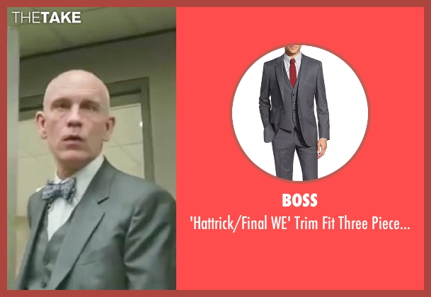 Boss gray suit from Burn After Reading seen with John Malkovich (Osborne Cox)