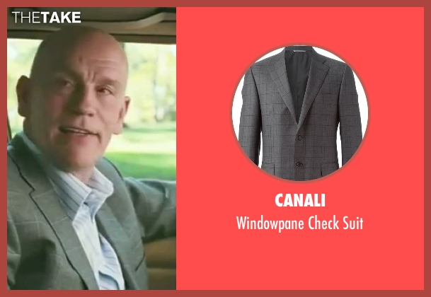 Canali gray suit from Burn After Reading seen with John Malkovich (Osborne Cox)