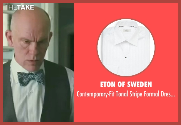 Eton of Sweden white shirt from Burn After Reading seen with John Malkovich (Osborne Cox)