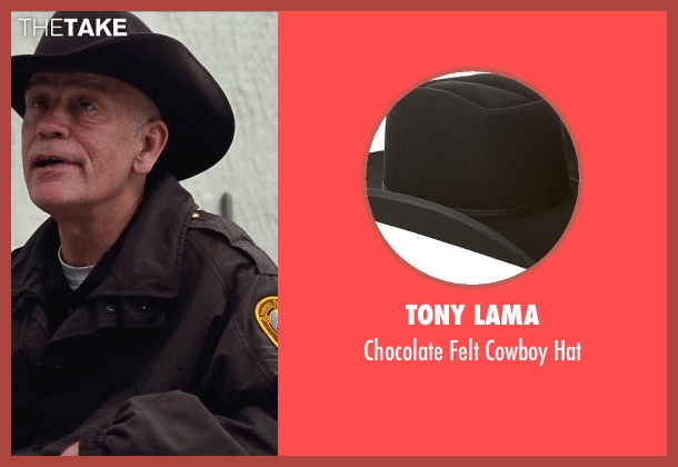 Tony Lama brown hat from Cut Bank seen with John Malkovich (Sheriff Vogel)