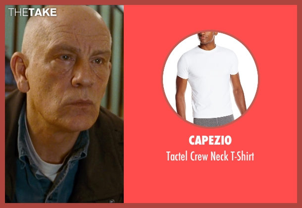 Capezio white t-shirt from Cut Bank seen with John Malkovich (Sheriff Vogel)