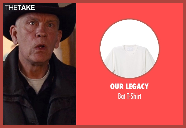 Our Legacy white t-shirt from Cut Bank seen with John Malkovich (Sheriff Vogel)