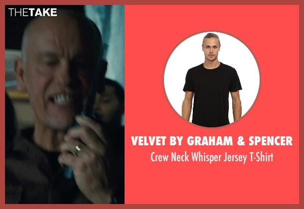 Velvet by Graham & Spencer black t-shirt from Warm Bodies seen with John Malkovich (Grigio)