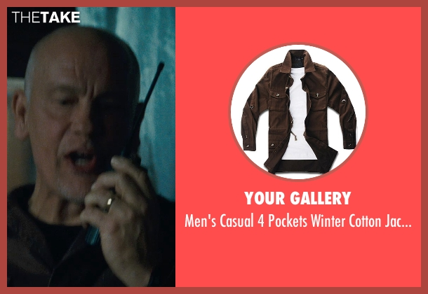 Your Gallery brown jackets from Warm Bodies seen with John Malkovich (Grigio)