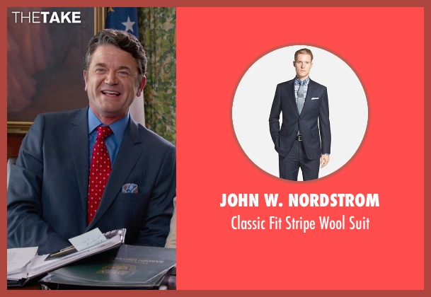 John W. Nordstrom blue suit from Pitch Perfect 2 seen with John Michael Higgins (John)
