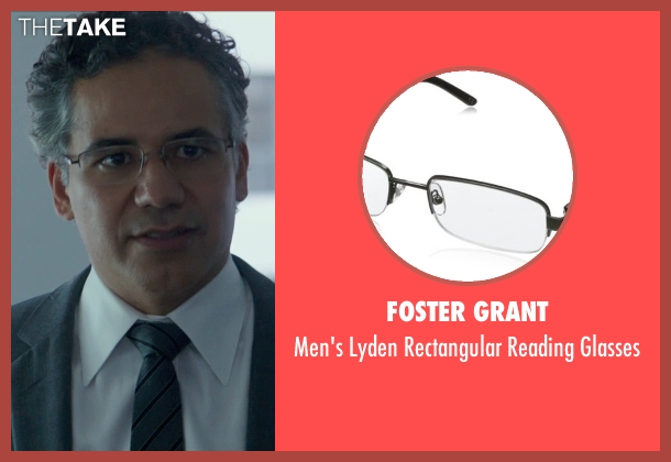 Foster Grant black glasses from Blackhat seen with John Ortiz (Henry Pollack)