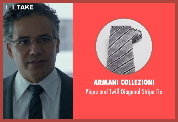 Armani Collezioni gray tie from Blackhat seen with John Ortiz (Henry Pollack)