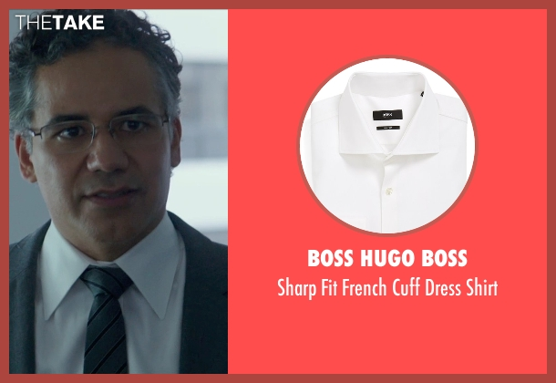 Boss Hugo Boss white shirt from Blackhat seen with John Ortiz (Henry Pollack)