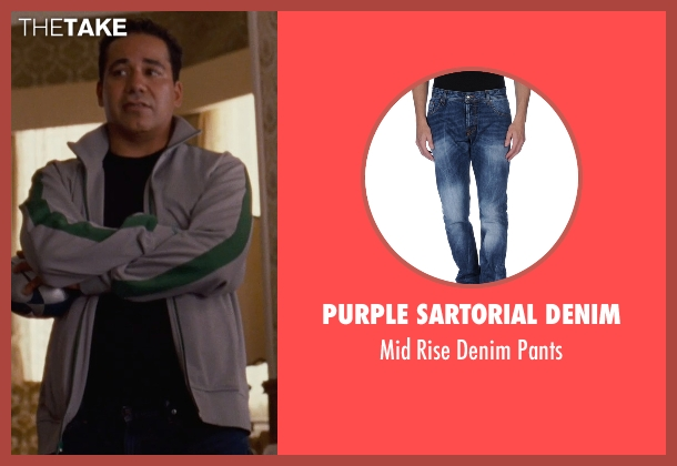 Purple Sartorial Denim blue pants from Silver Linings Playbook seen with John Ortiz (Ronnie)