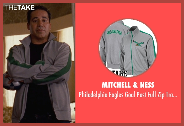 Mitchell & Ness gray jacket from Silver Linings Playbook seen with John Ortiz (Ronnie)
