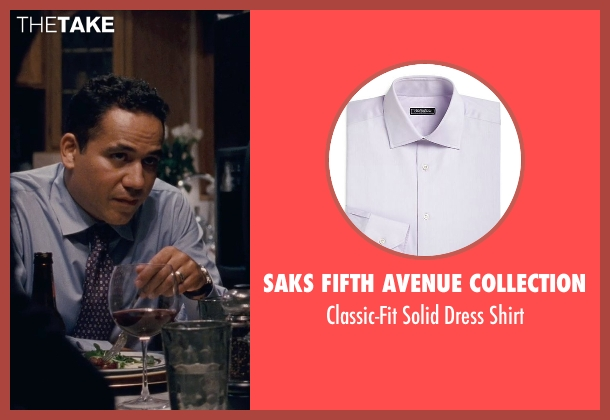 Saks Fifth Avenue Collection purple shirt from Silver Linings Playbook seen with John Ortiz (Ronnie)