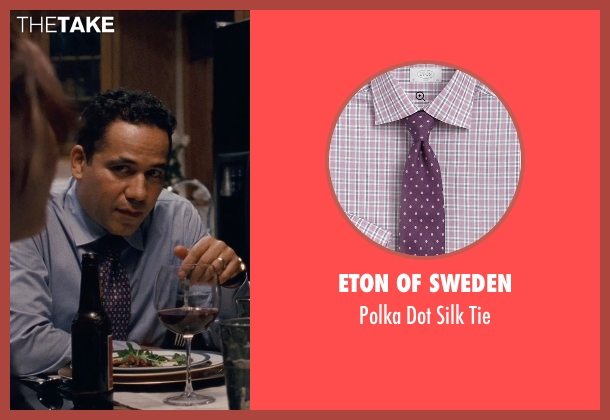 Eton of Sweden purple tie from Silver Linings Playbook seen with John Ortiz (Ronnie)