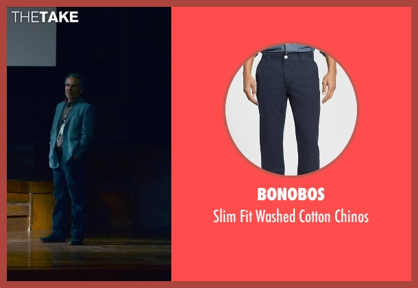 Bonobos blue chinos from Steve Jobs seen with John Ortiz (Joel Pforzheimer)