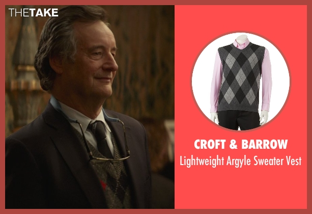 Croft & Barrow gray vest from That Awkward Moment seen with John Rothman (Chelsea's Father)