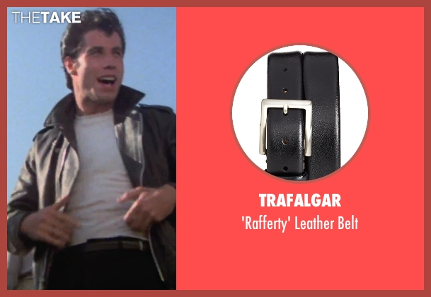Trafalgar black belt from Grease seen with John Travolta (Danny)